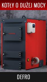 Kotły Defro o dużej mocy grzewczej z serii KOMPAKT MAX, BIOMAX, OPTIMA PLUS MAX